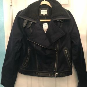 NWT...wool and faux shearling lined coat